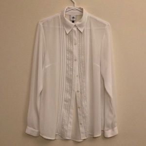 Cabi | Playwright Blouse Sheer White